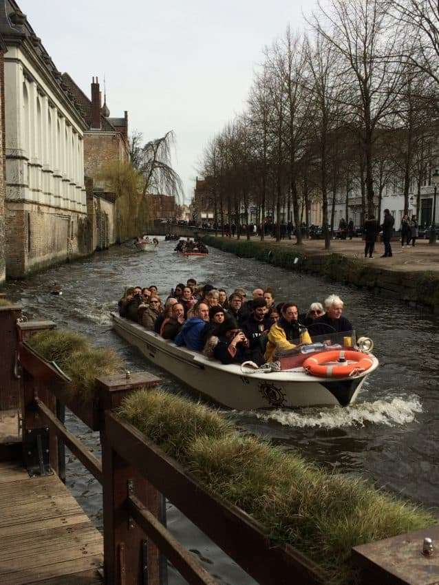 Twenty boats take tourists around the canals.. No private craft allowed.