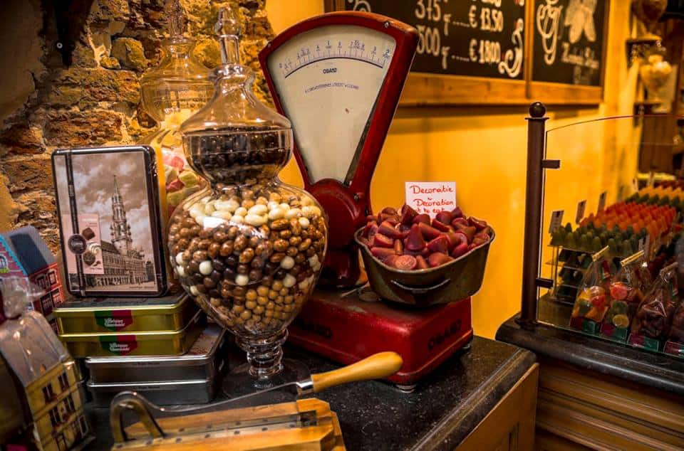 Chocolate comes in all shapes and forms in Bruges. Photo by Marina Pascucci