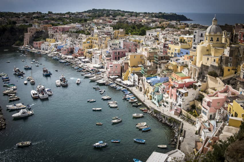 Ten miles north of Capri, Procida is only 1.6 square miles with 12,000 people. Photo by Marina Pascucci