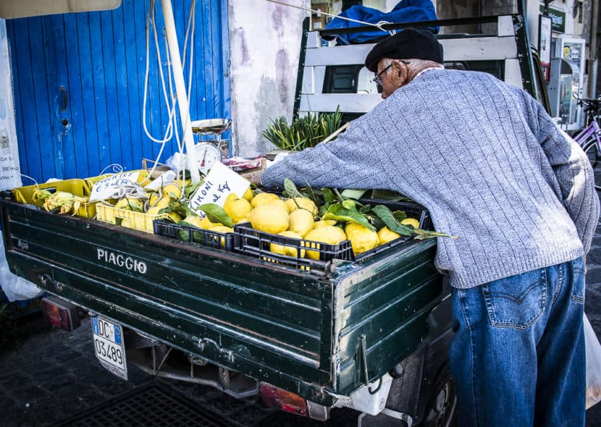 Nowhere in Italy are lemons better than in Procida's Campania region. Photo by Marina Pascucci