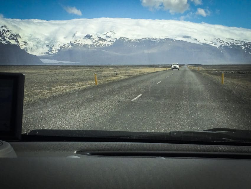 The view from the Ring Road along the South Iceland coast.