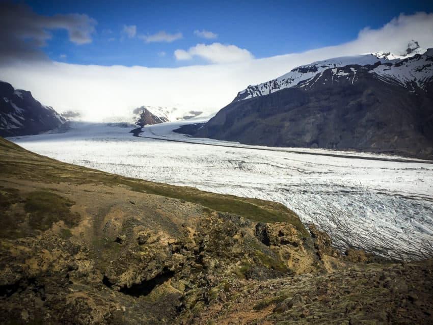 Skaftafellsjokull glacier in South Iceland.