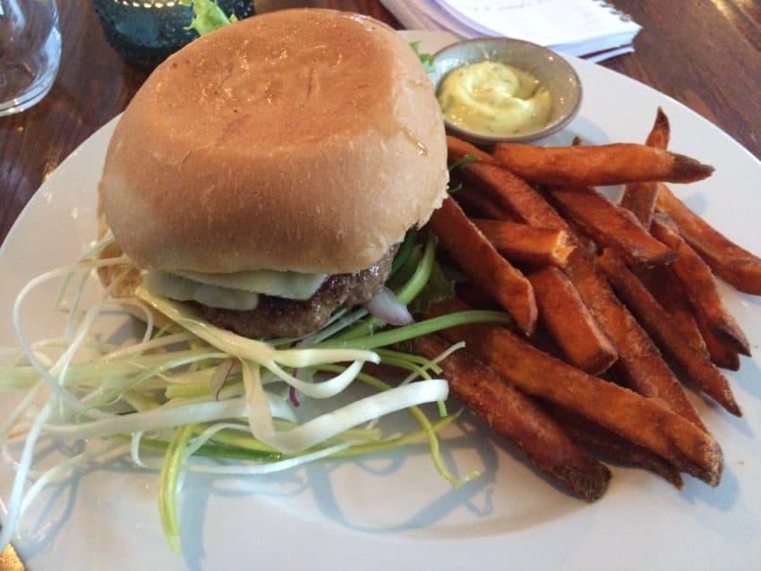 The $20 hamburger at Narfeyrarstofa in West Iceland.