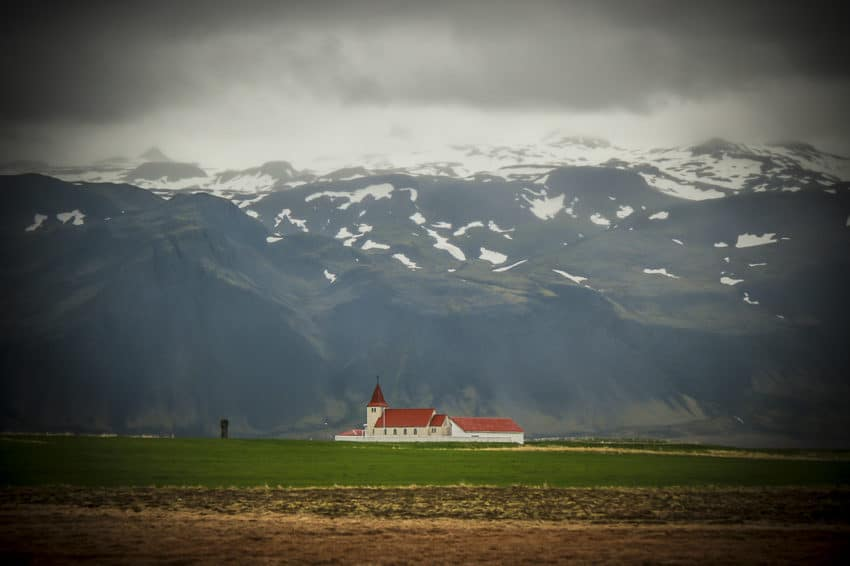 A church in West Iceland. Nature dwarfs this population of 330,000.