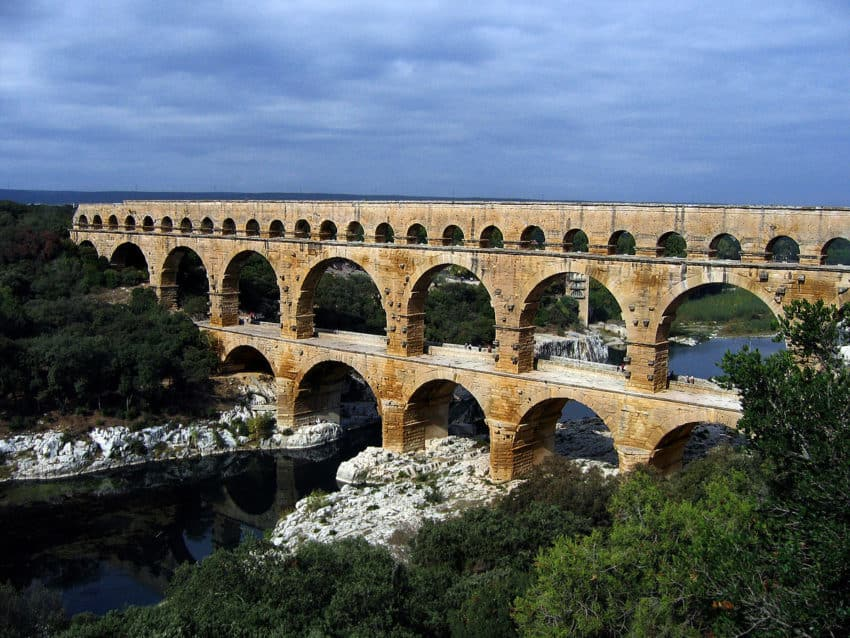 The Aqueducts were built 2,000 years ago but many are still in use today.