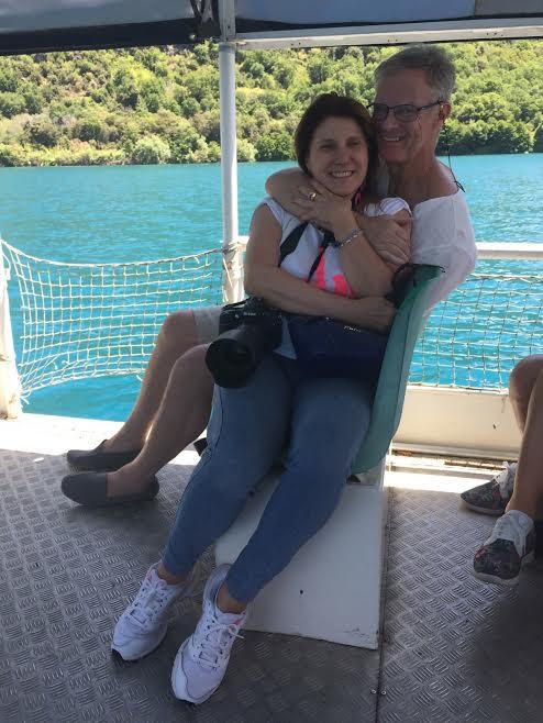 Marina, with me on Lago Albano Sunday, says I look more distinguished.
