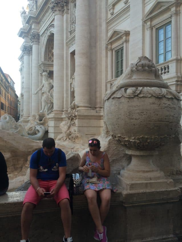 This bell on Trevi Fountain has historical significance.