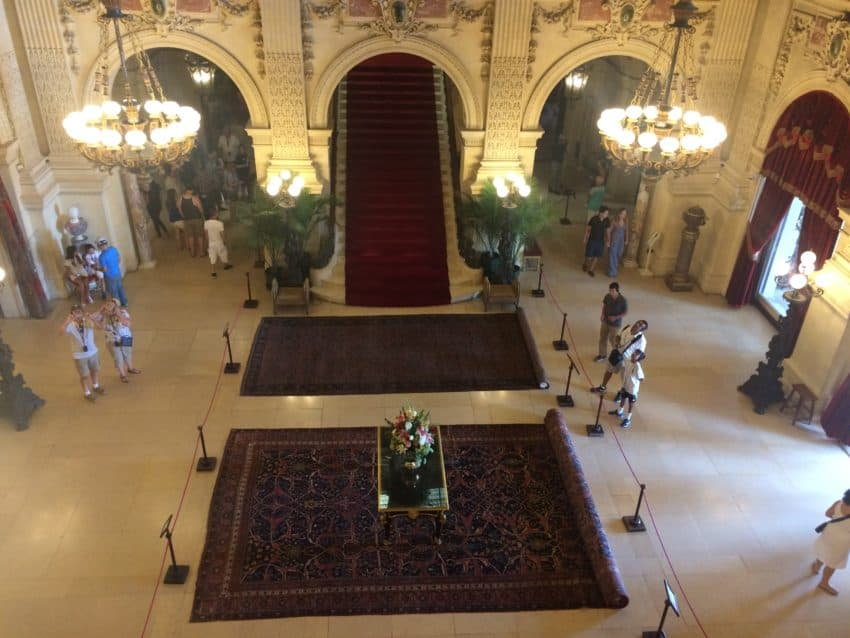 The Breakers' entryway and staircase were inspired by Paris opera houses.