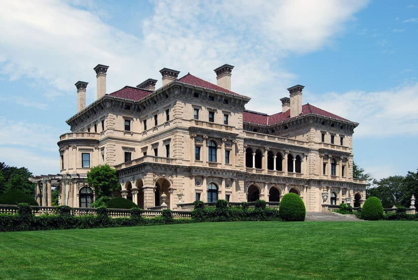 The Breakers has 70 rooms and was built on 14 acres.