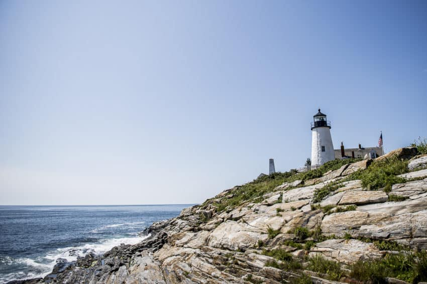 Penaquid Point Lighthouse is one of 52 working lighthouses in Maine. Photo by Marina Pascucci