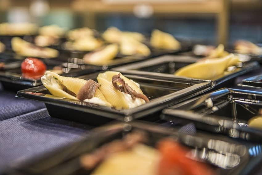 Paccheri con fonduta di pecorino e guanciale. Photo by Marina Pascucci