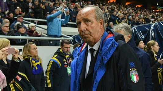 Gian Piero Ventura walks off the field Friday night.