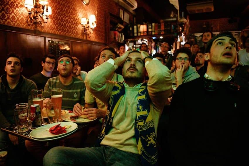 Italian fans react to Monday's 0-0 draw with Sweden that eliminated Italy. Photo NBC News