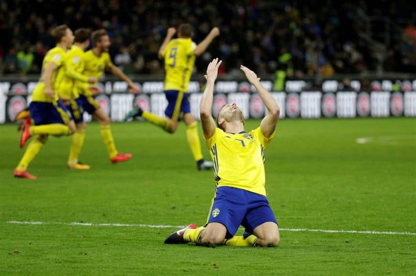 Sweden was heavy  underdog against the four-time World Cup champion. Photo NBC News