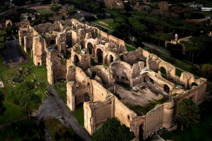 Terme di Caracalla (235 AD) hosted 6,000-8,000 Romans a day.