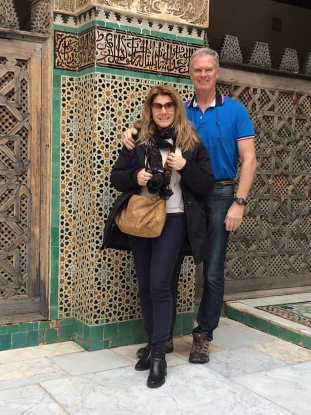 Marina and I at Bou Inaina Madrasa.