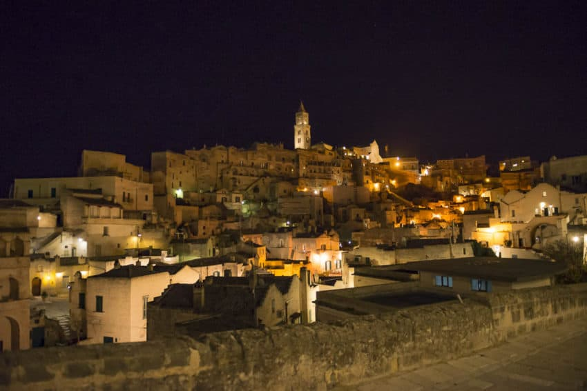 Matera's cathedral at night. Photo by Marina Pascucci