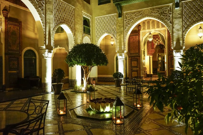 The Palais Faraj hotel, home to L'Amandier restaurant, was one of the many that price gouged on New Year's Eve. Photo by Marina Pascucci
