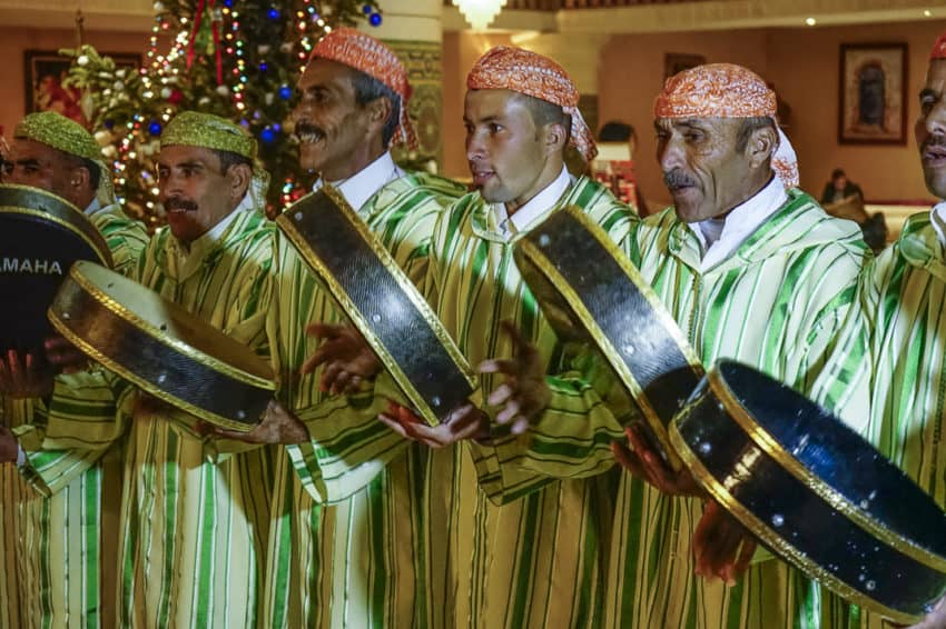 The Berber band on New Year's Eve. Photo by Marina Pascucci
