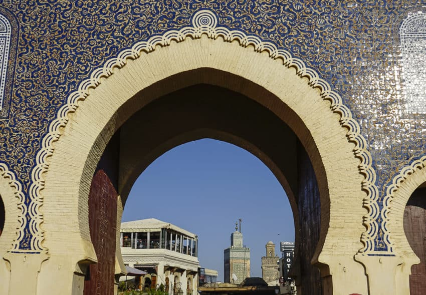 Bab Bou Jeloud (Blue Gate), one of the 14 gates to the medina. Photo by Marina Pascucci