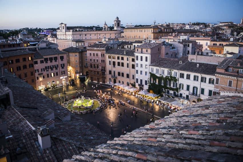Piazza Navona from Terrazza Borromini. Photo by Marina Pascucci