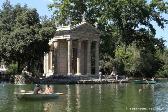 Villa Borghese is a 200-acre park on the north end of Rome.