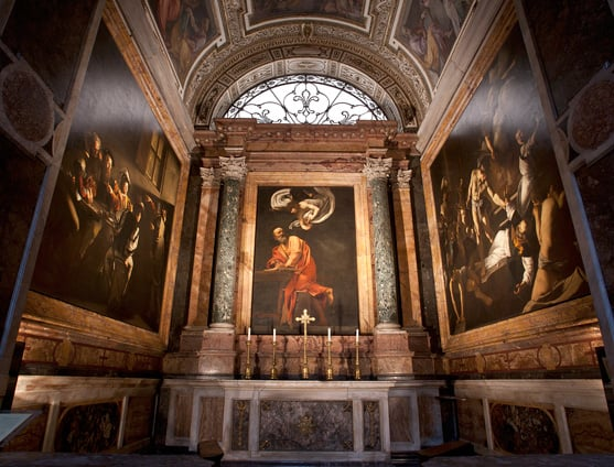 Three Caravaggios can be seen in one chapel in Chiesa di San Luigi dei Francesi. Chiesa di San Luigi dei Francesi photo