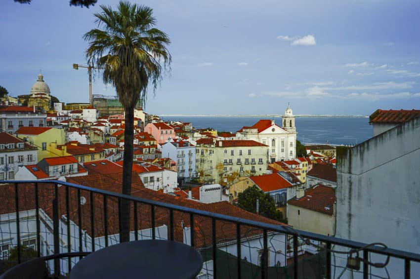 The view from Largo das Portas do Sol in Alfama. Photo by Marina Pascucci