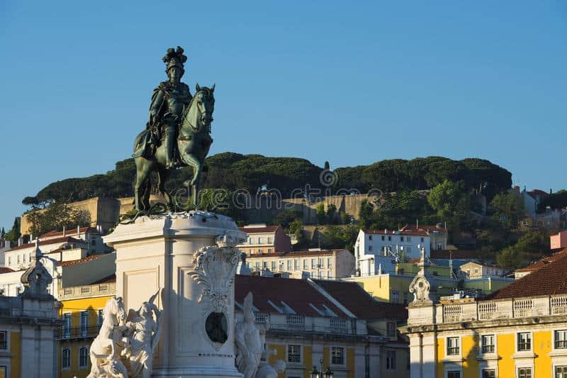 Statue of King Dom Jose I in Praca Do Comercio. Dreamstime photo