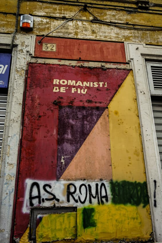 The building where A.S. Roma was born in 1927. Photo by Marina Pascucci