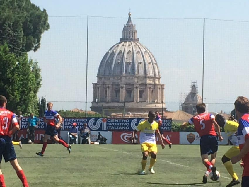 Champions League final? The Vatican had its own championship soccer game