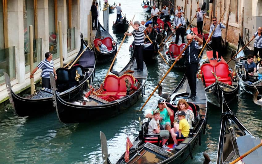 Even small canals are getting crowded with gondolas. Photo by The Beauty of Travel