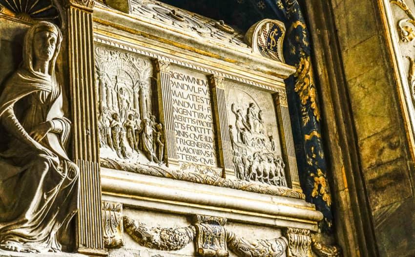 "The tomb of Sigismondo Malatesta, ""The Wolf of Rimini."" Photo by Marina Pascucci"