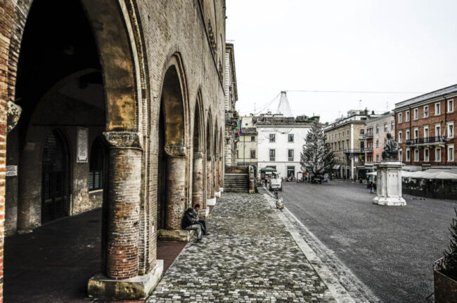 Piazza Cavour is the heartbeat of Rimini. Photo by Marina Pascucci