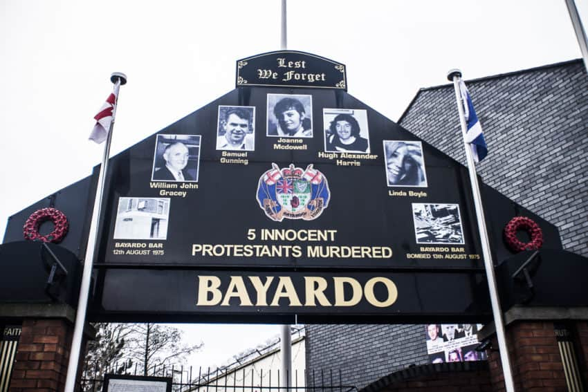 The Bayardo pub memorial on Shankill Road. Photo by Marina Pascucci.