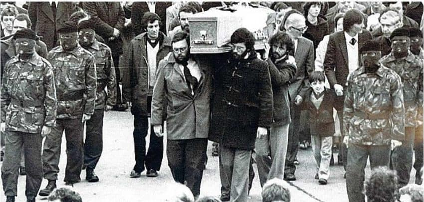Bobby Sands' funeral in 1981. Global Rights photo