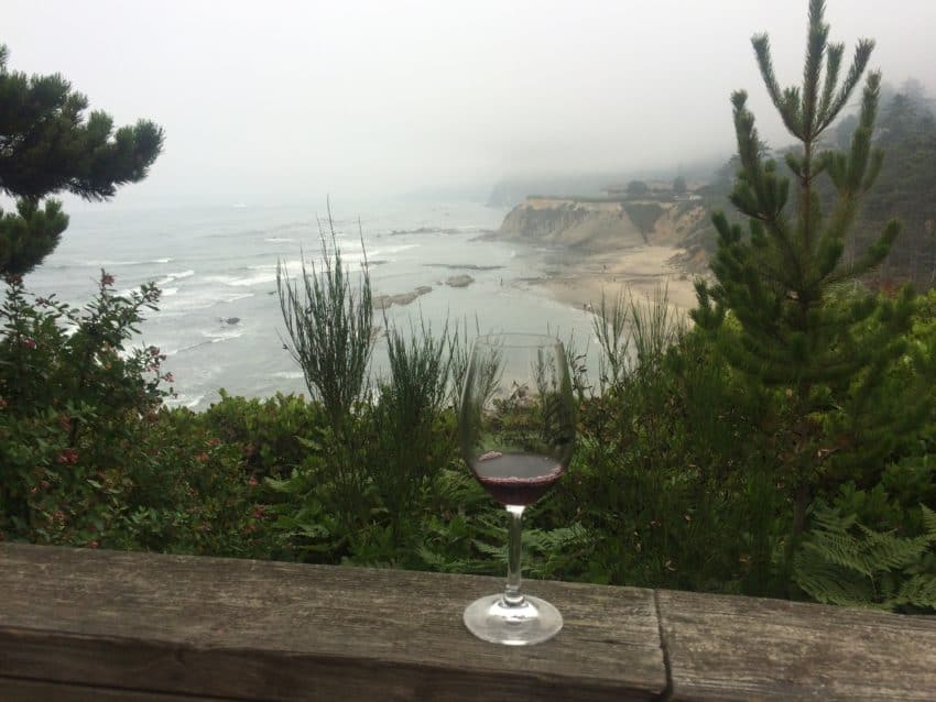 The view from the Flying Dutchman's patio in Waldport.