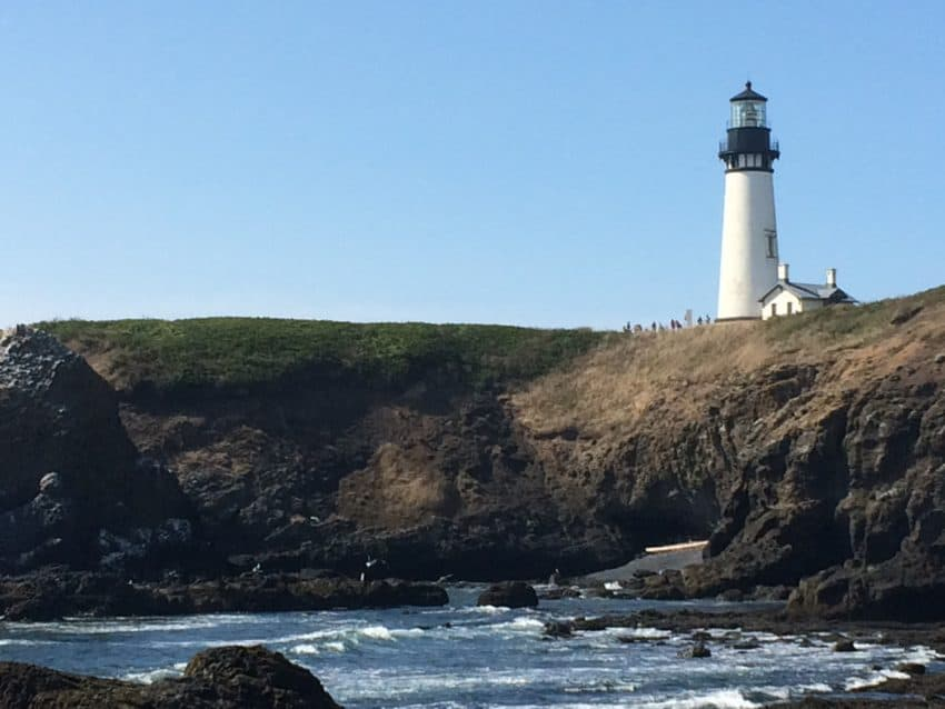 The Yaquina Head Light is the tallest of Oregon's lighthouses at 93 feet