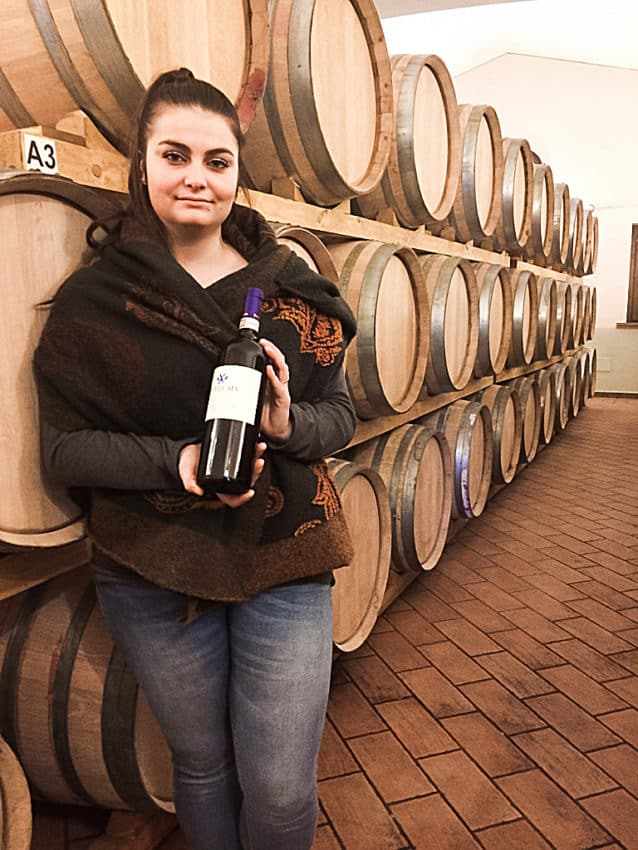 Francesca Mechella in Perticaia's storage room