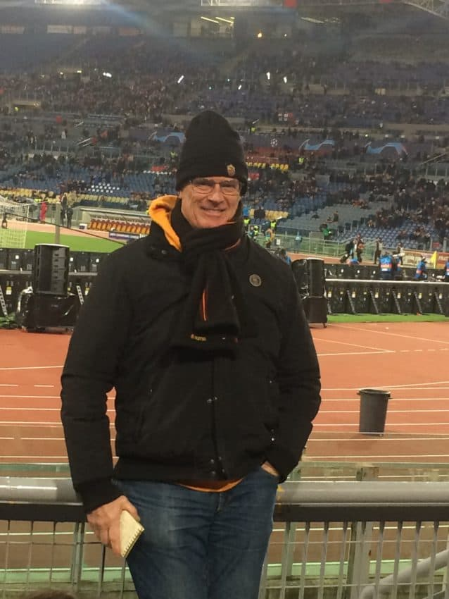 Making my season debut at Olympic Stadium, a 2-1 Champions League win for Roma  over Porto.