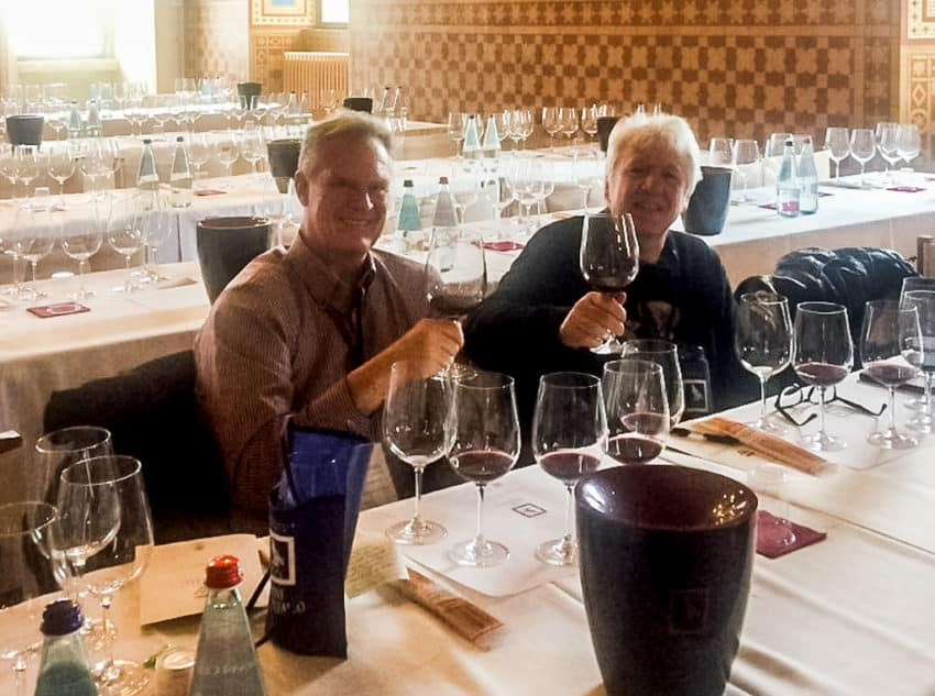 Me and Alessandro Castellani in the media tasting room.