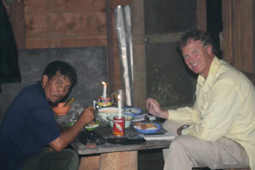 Trekking in Borneo.
