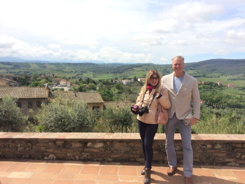 Four-year anniversary in San Gimignano represents a towering achievement in Italian relationships