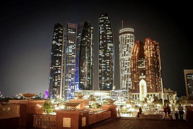 Abu Dhabi skyline night