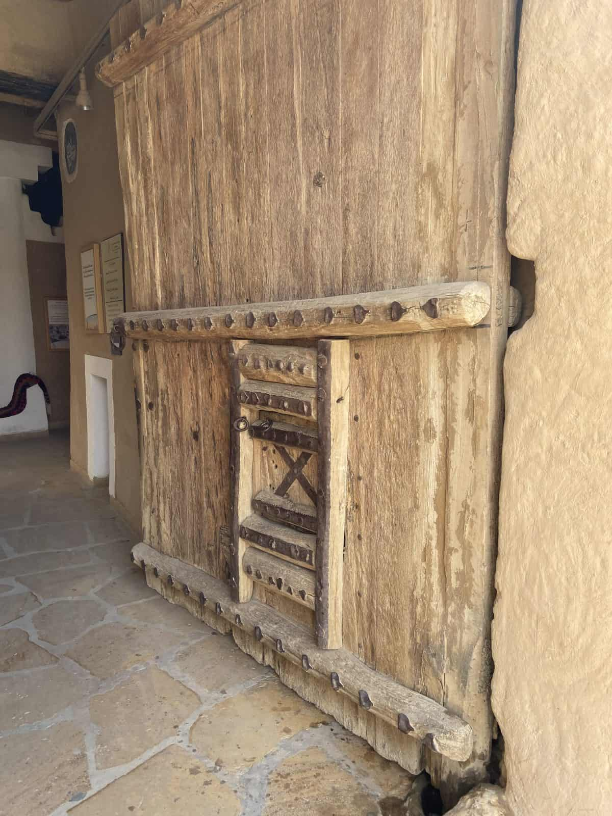 The door in which Ibn Saud, the father of Saudi Arabia, led his men through in overpowering the army in 1902.