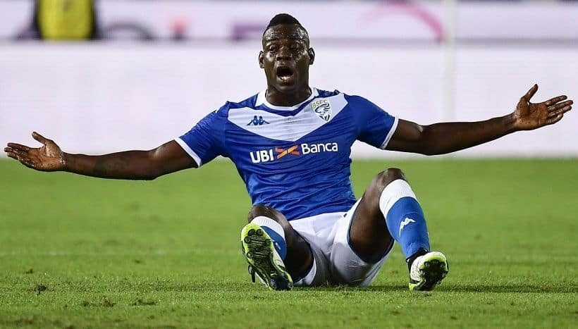 Mario Balotelli with his hometown Brescia this season. Sport Virgilio.it photo