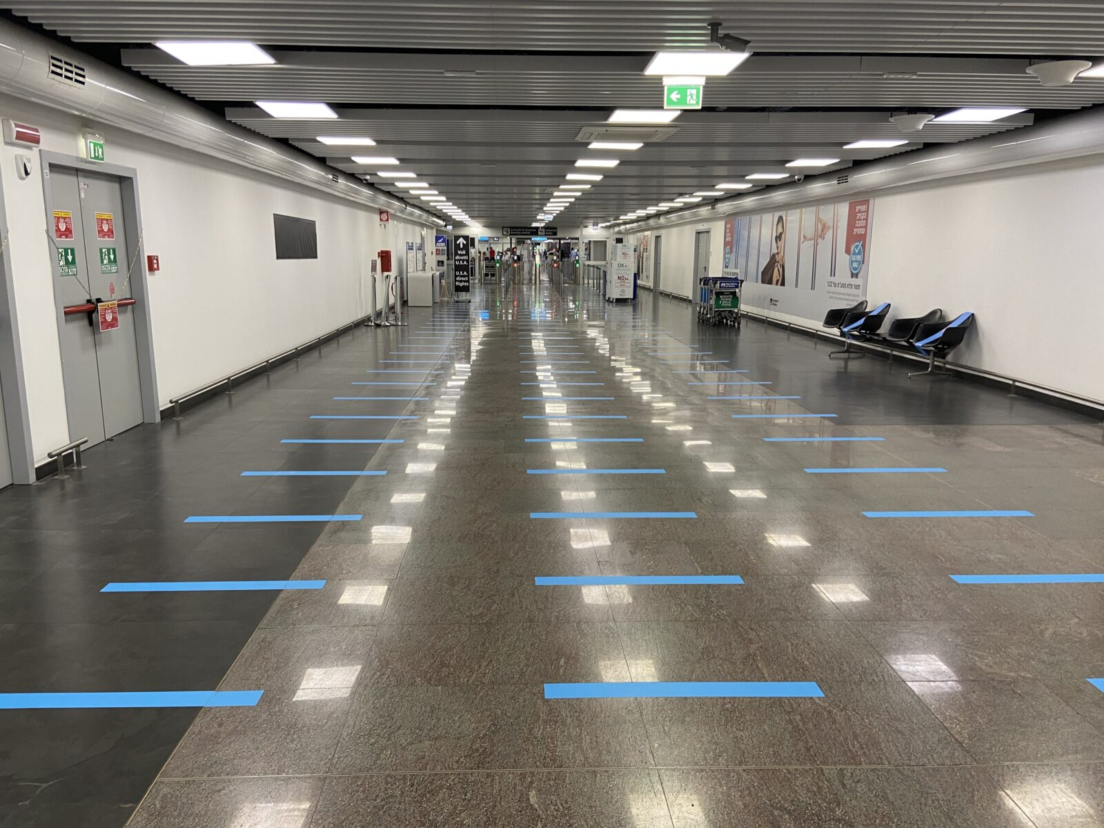 Rome's Fiumicino Airport still has few customers and the few must adhere to regulations.