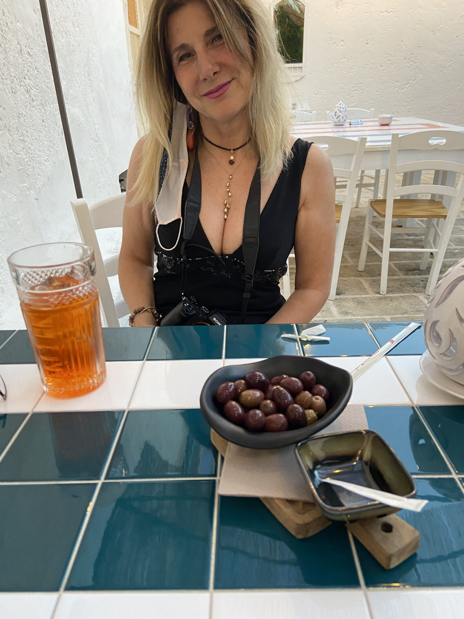 Marina at Al Palazzo, a romantic, tree-covered restaurant in Fasano.