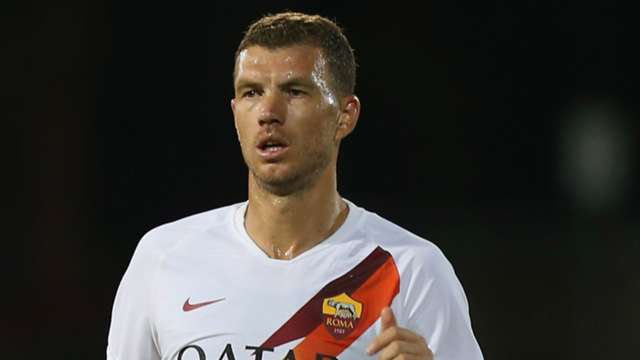 Edin Dzeko, 34, is Roma's fourth all-time leading scorer.