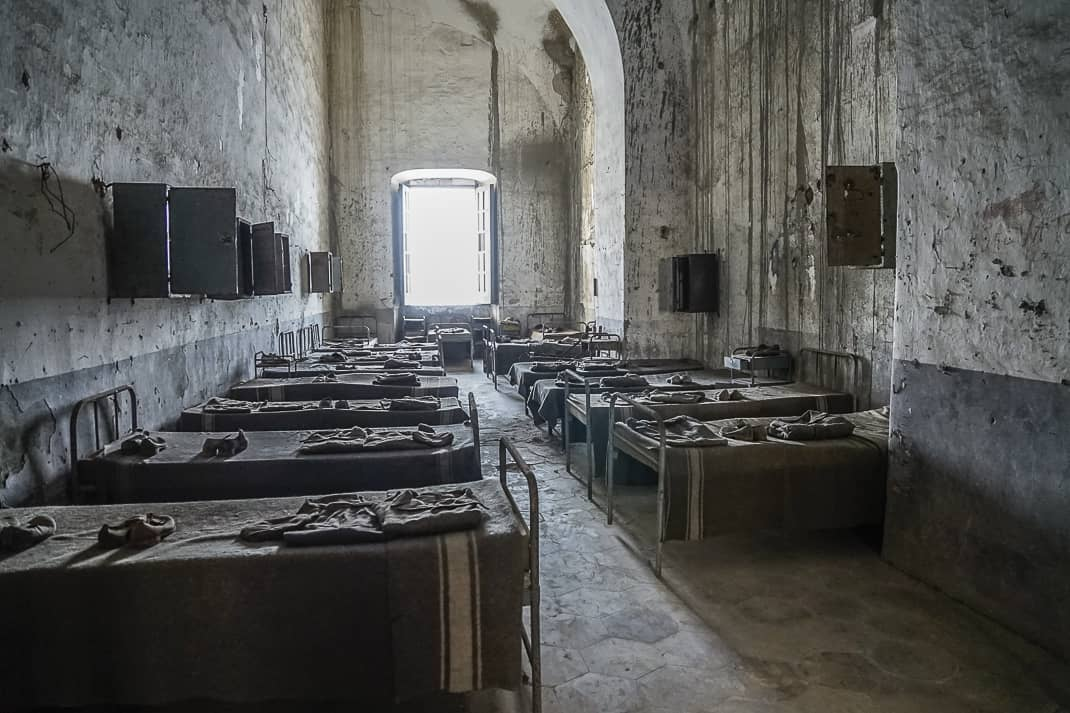 This cell held 30-40 prisoners.